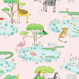Albany Crocodile Lake Pink Wallpaper - Product code: 90931