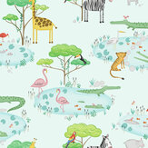 Albany Crocodile Lake Light Teal Wallpaper - Product code: 90932