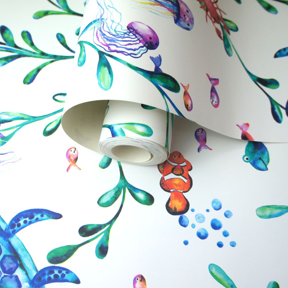 Under the Sea Wallpaper - White - by Albany