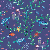 Albany Under the Sea Navy Wallpaper - Product code: 90942
