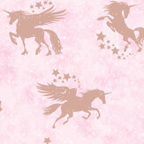Albany Iridescent Unicorns Pink / Rose Gold Wallpaper - Product code: 90951