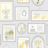 Albany Animal Frames Yellow / Grey Wallpaper - Product code: 90970