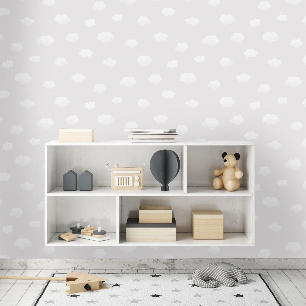 Albany Cloudy Sky Grey Wallpaper - Product code: 90990