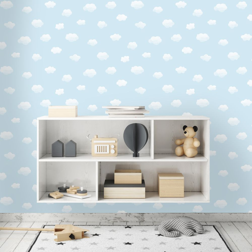 Albany Cloudy Sky Blue Wallpaper - Product code: 90991