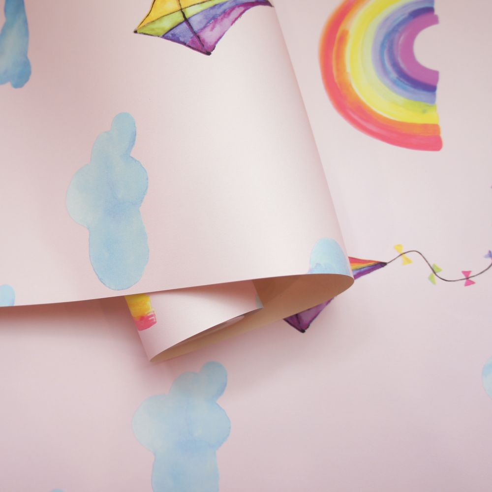 Albany Rainbows and Flying Kites Pink Wallpaper - Product code: 91021