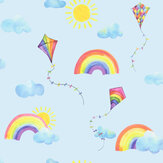 Albany Rainbows and Flying Kites Blue Wallpaper - Product code: 91022
