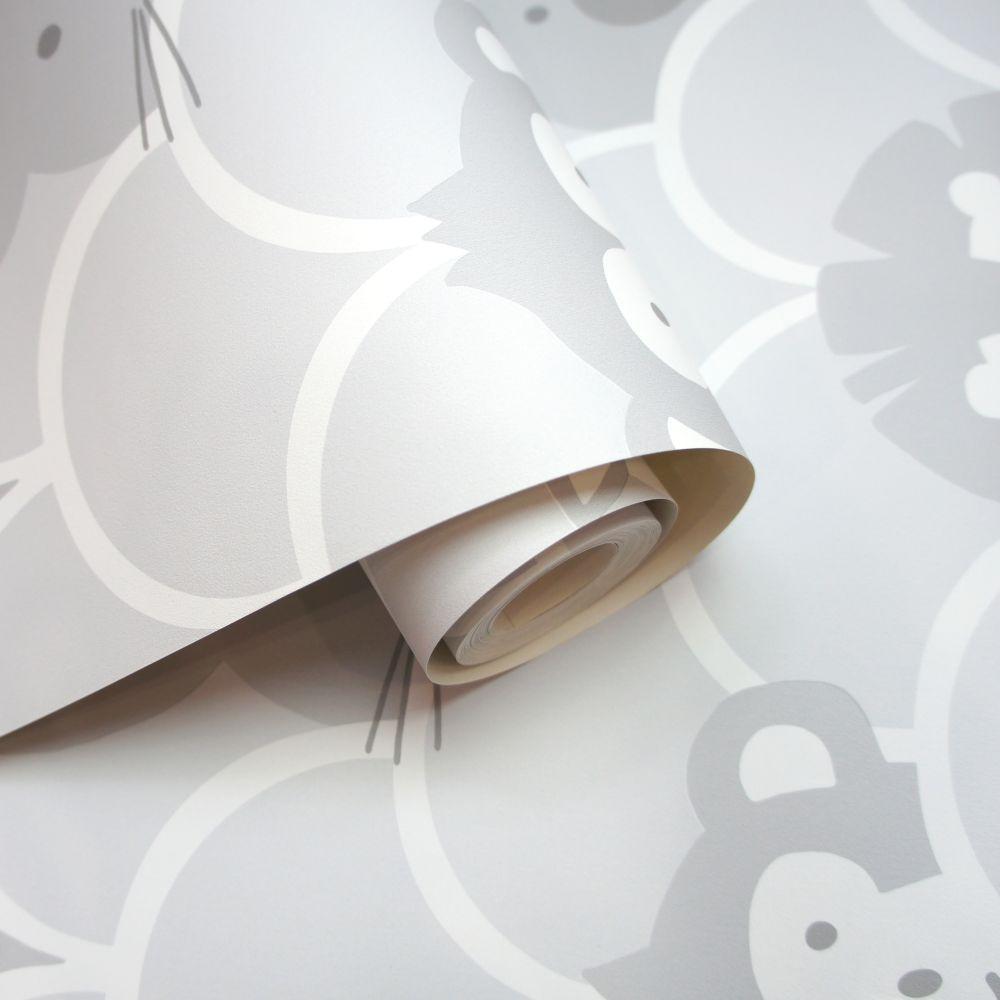 Albany Peek a Boo Grey Wallpaper - Product code: 91030