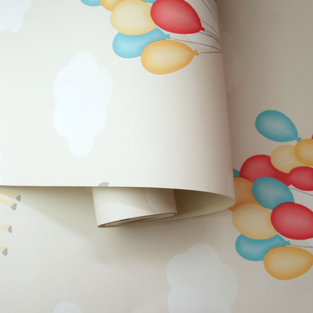 Animal Balloons Wallpaper - Neutral - by Albany