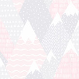 Albany Mountains Pink Wallpaper - Product code: 91051