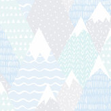 Albany Mountains Teal Wallpaper - Product code: 91052