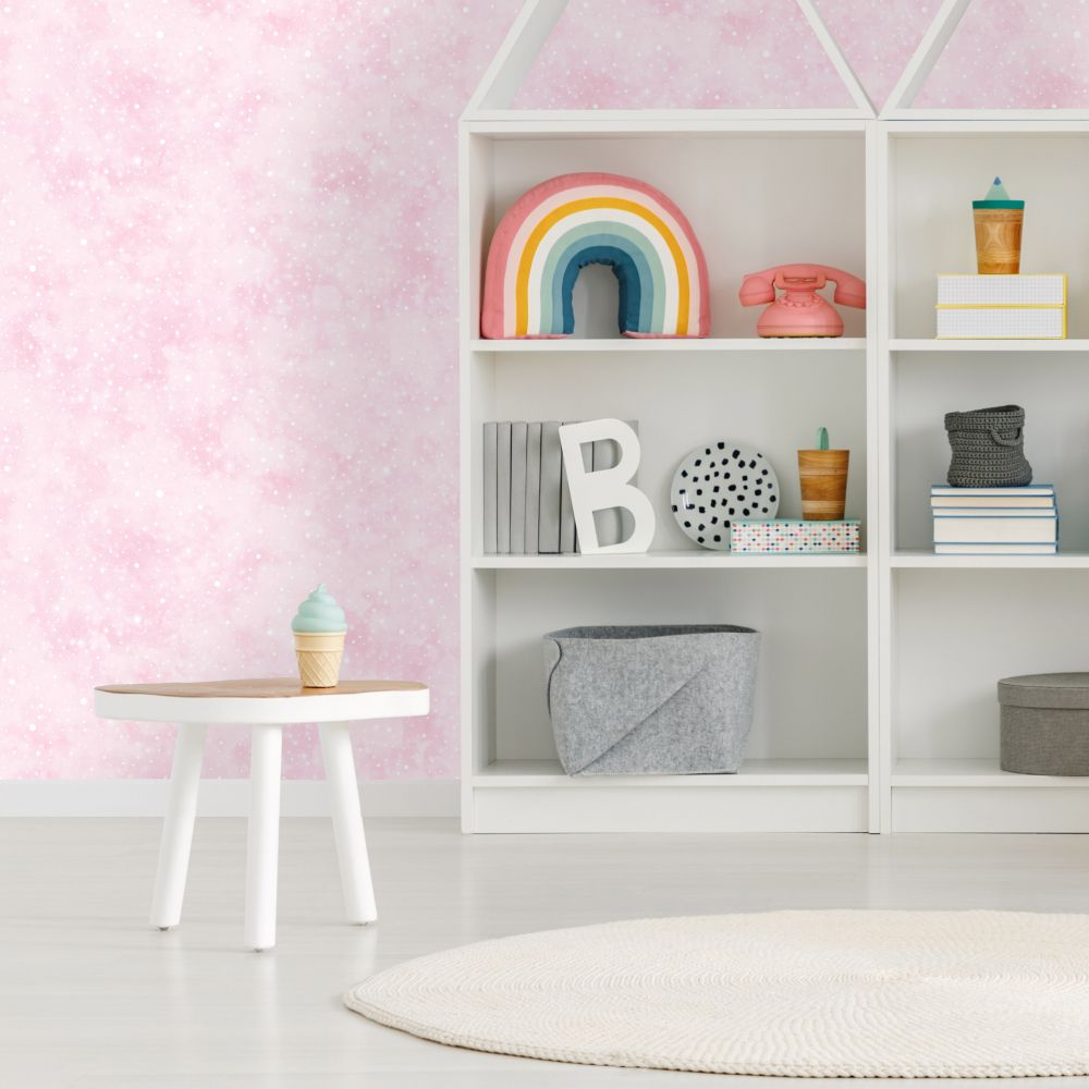 Iridescent Texture Wallpaper -  Pink - by Albany