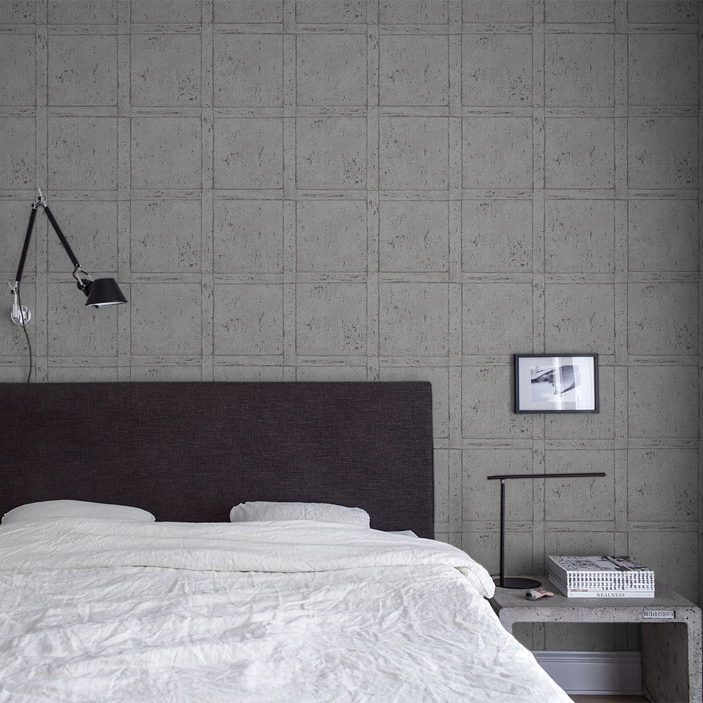 Boråstapeter Vintage Panel Grey Wallpaper - Product code: 1173