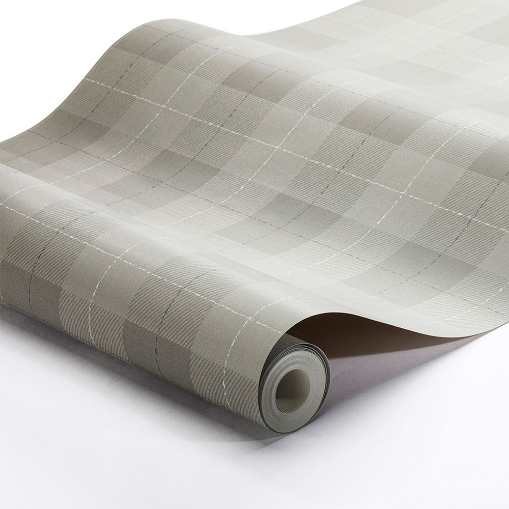 Boråstapeter Tartan Check Brown and Grey Wallpaper - Product code: 1179