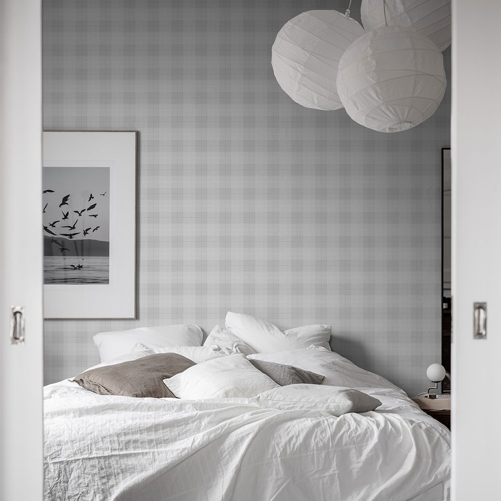 Boråstapeter Tartan Check Grey Wallpaper - Product code: 1180