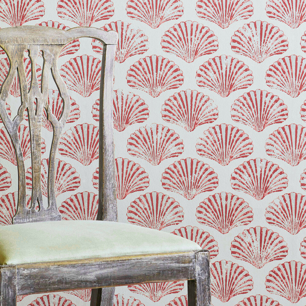Barneby Gates Scallop Shell Red Wallpaper - Product code: BG2100101