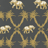 Barneby Gates Elephant Palm Gunmetal / Gold Wallpaper - Product code: BG2100201