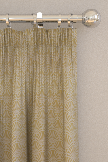 Clarke & Clarke Zellige Chartreuse Curtains - Product code: F1351-02