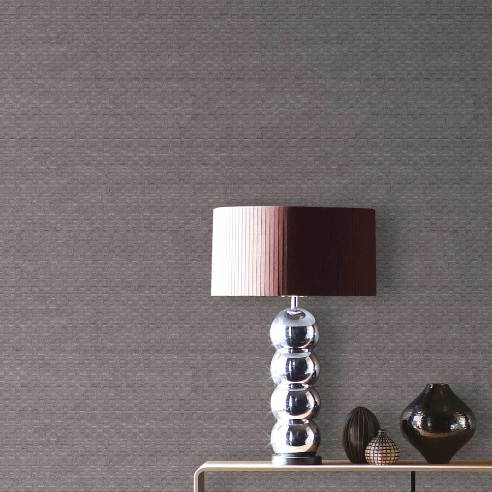 Albany Geometric Chocolate Brown Wallpaper - Product code: 4436