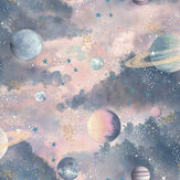 Arthouse Glitter Planets Pink / Purple Wallpaper - Product code: 292900