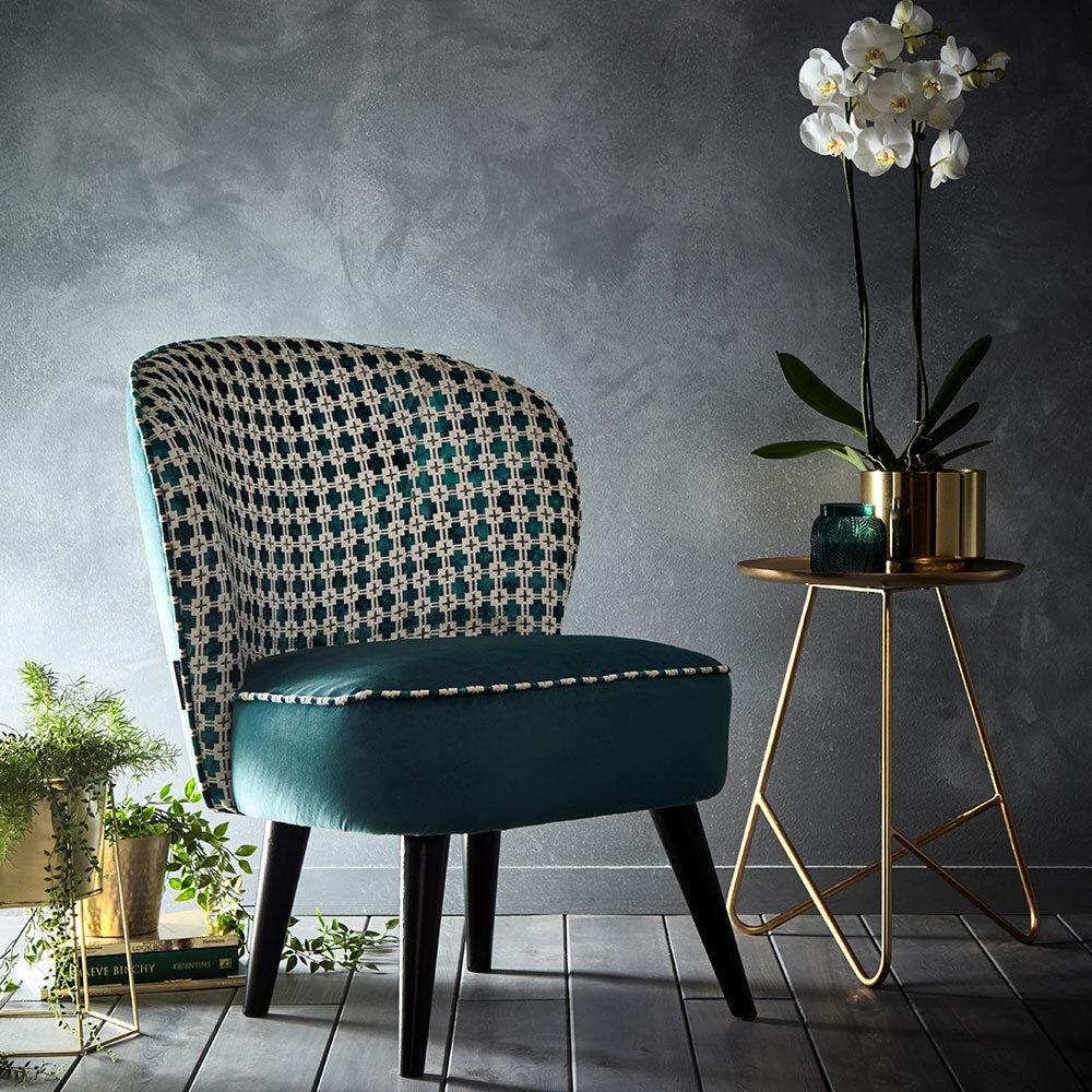 Ascot Chair - Maui Armchair - Kingfisher - by Clarke & Clarke