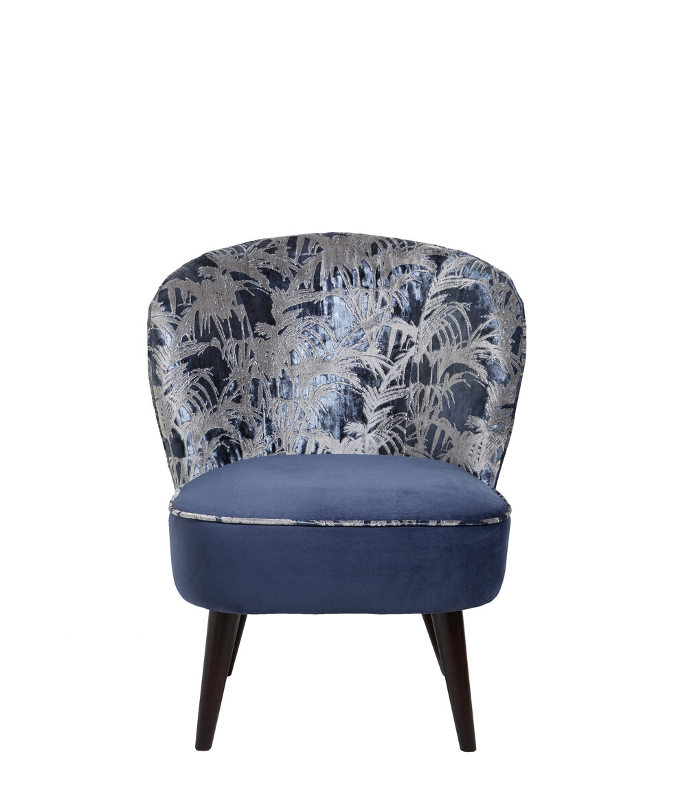 Ascot Chair - Tropicale Armchair - Midnight - by Clarke & Clarke