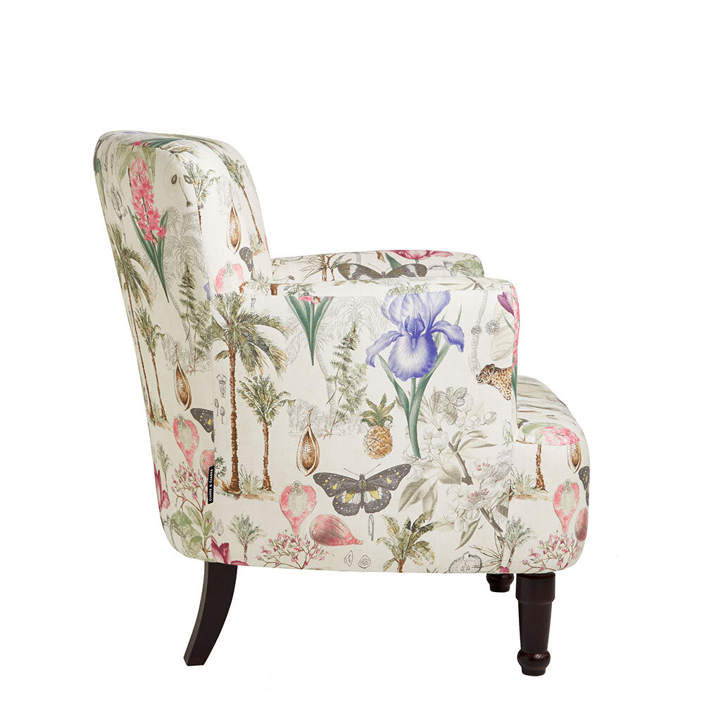 Dalston Chair - Botany Armchair - Summer - by Clarke & Clarke