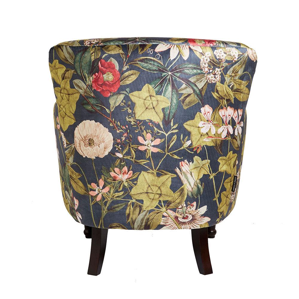 Dalston Chair - Passiflora Armchair - Midnight - by Clarke & Clarke