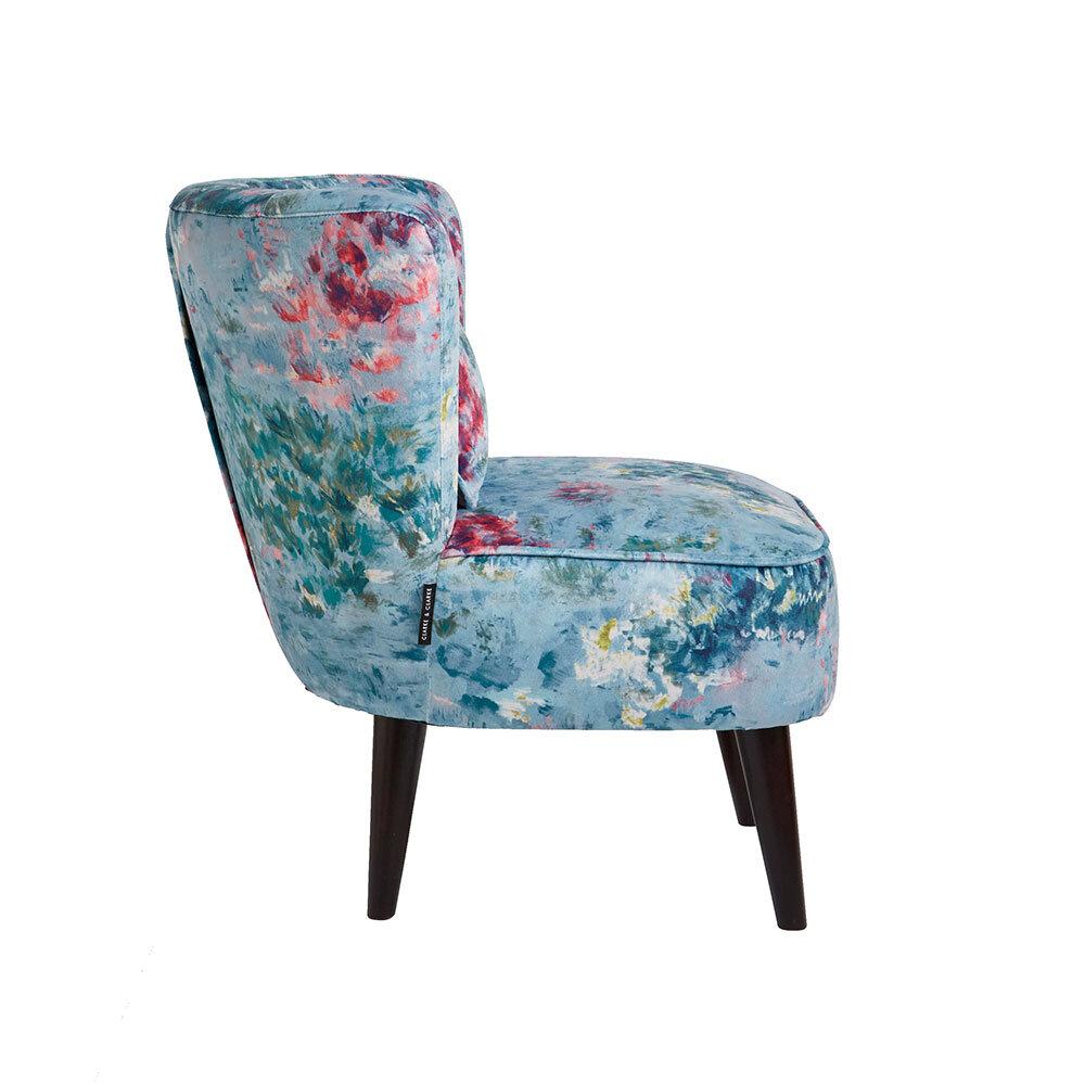 Lexi Chair - Fiore Armchair - Mineral - by Clarke & Clarke