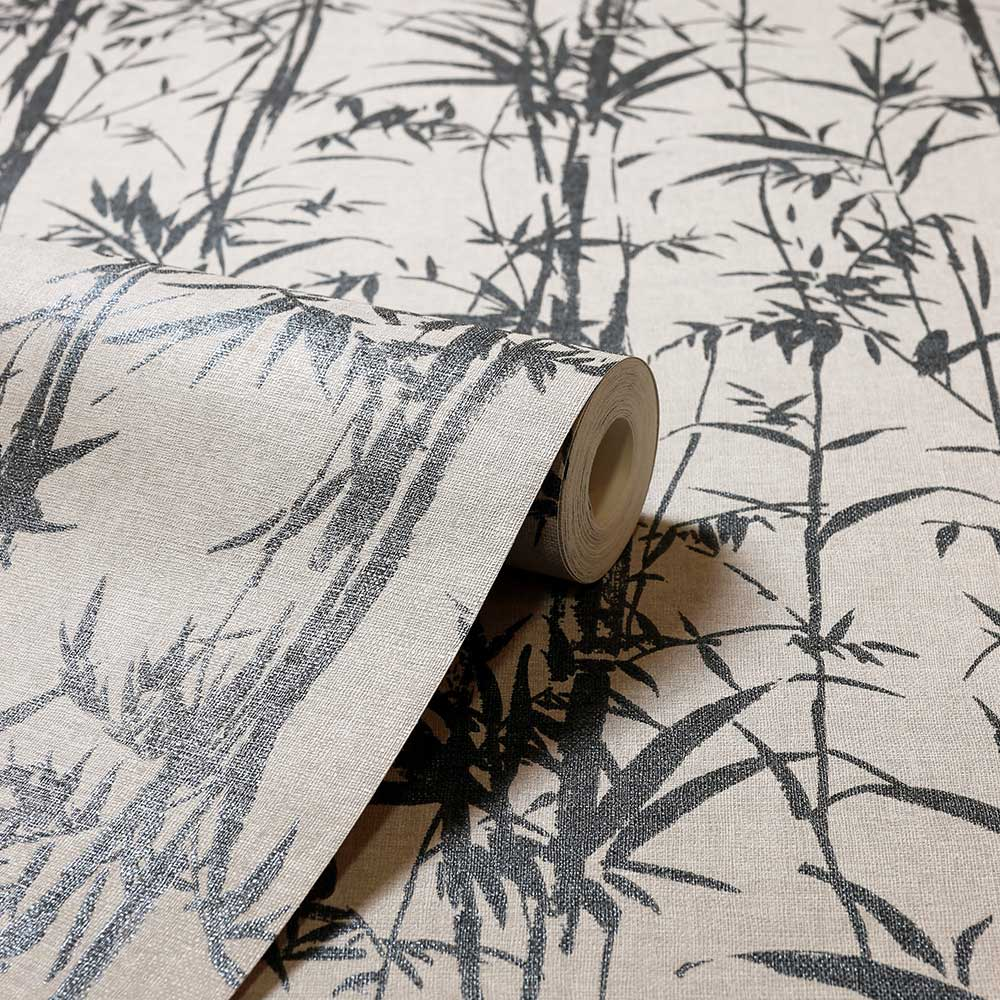 Arthouse Oasis Bamboo Taupe / Charcoal Wallpaper - Product code: 296300