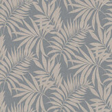 Arthouse Oasis Leaf Denim Blue Wallpaper - Product code: 296500