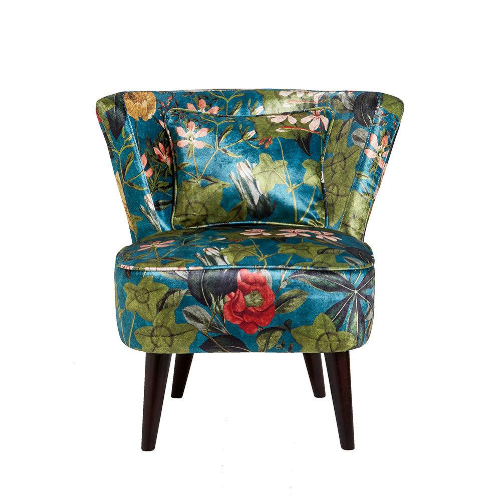 Lexi Chair - Passiflora Armchair - Kingfisher - by Clarke & Clarke