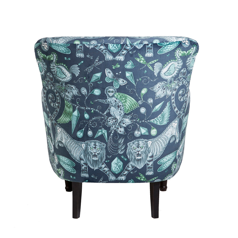Dalston Chair - Extinct Armchair - Navy - by Emma J Shipley