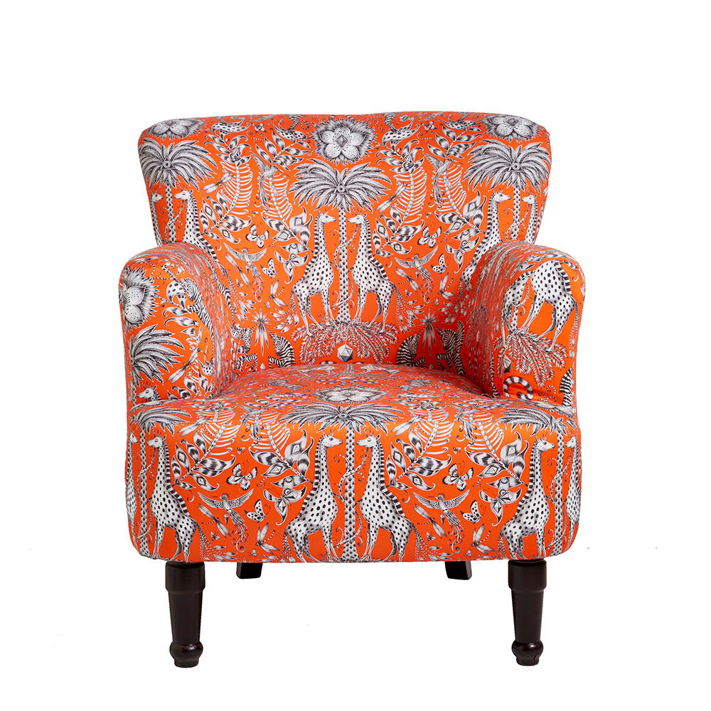 Dalston Chair - Kruger Armchair - Flame - by Emma J Shipley
