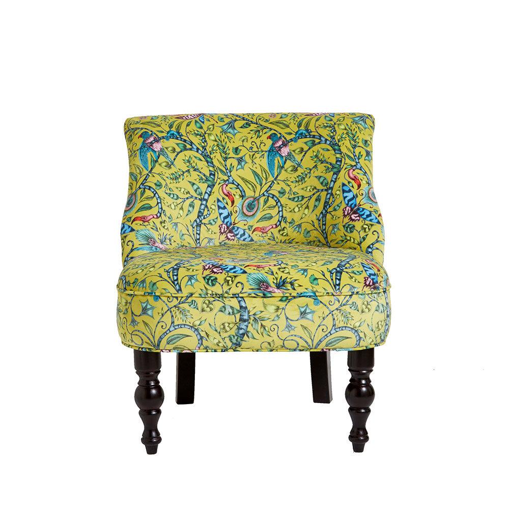 Langley Chair - Rousseau Armchair - Lime - by Emma J Shipley
