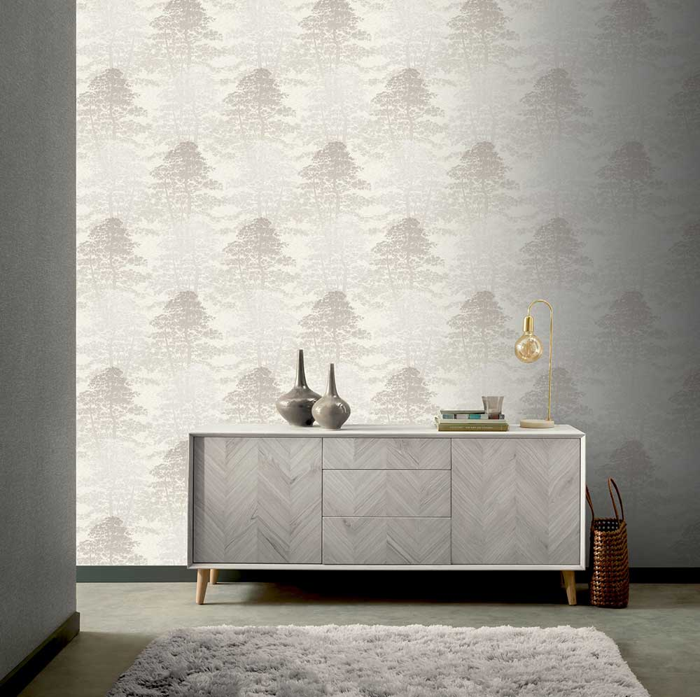 Arthouse Oasis Wood Taupe Wallpaper - Product code: 296602