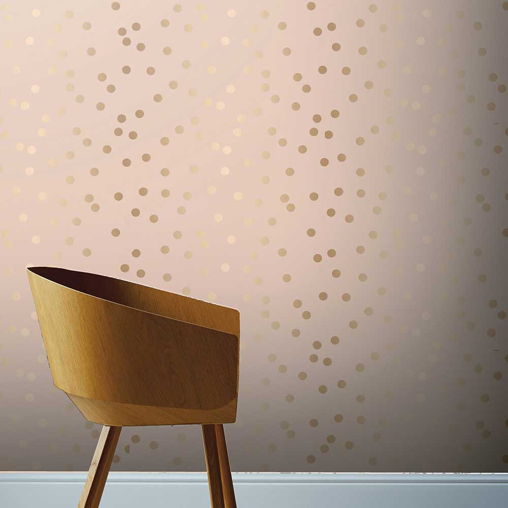 Arthouse Dotty Blush / Rose Gold Wallpaper - Product code: 685000