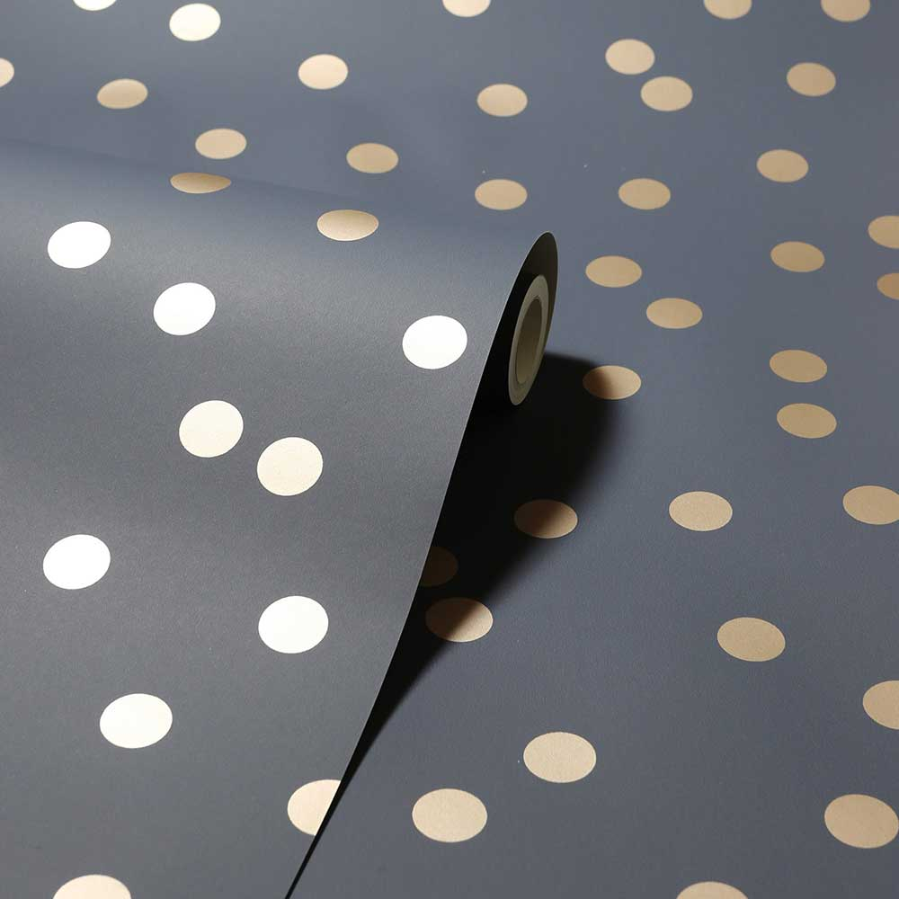 Arthouse Dotty Charcoal / Rose Gold Wallpaper - Product code: 685001