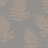 Arthouse Metallic Fern Charcoal / Rose Gold Wallpaper - Product code: 687001