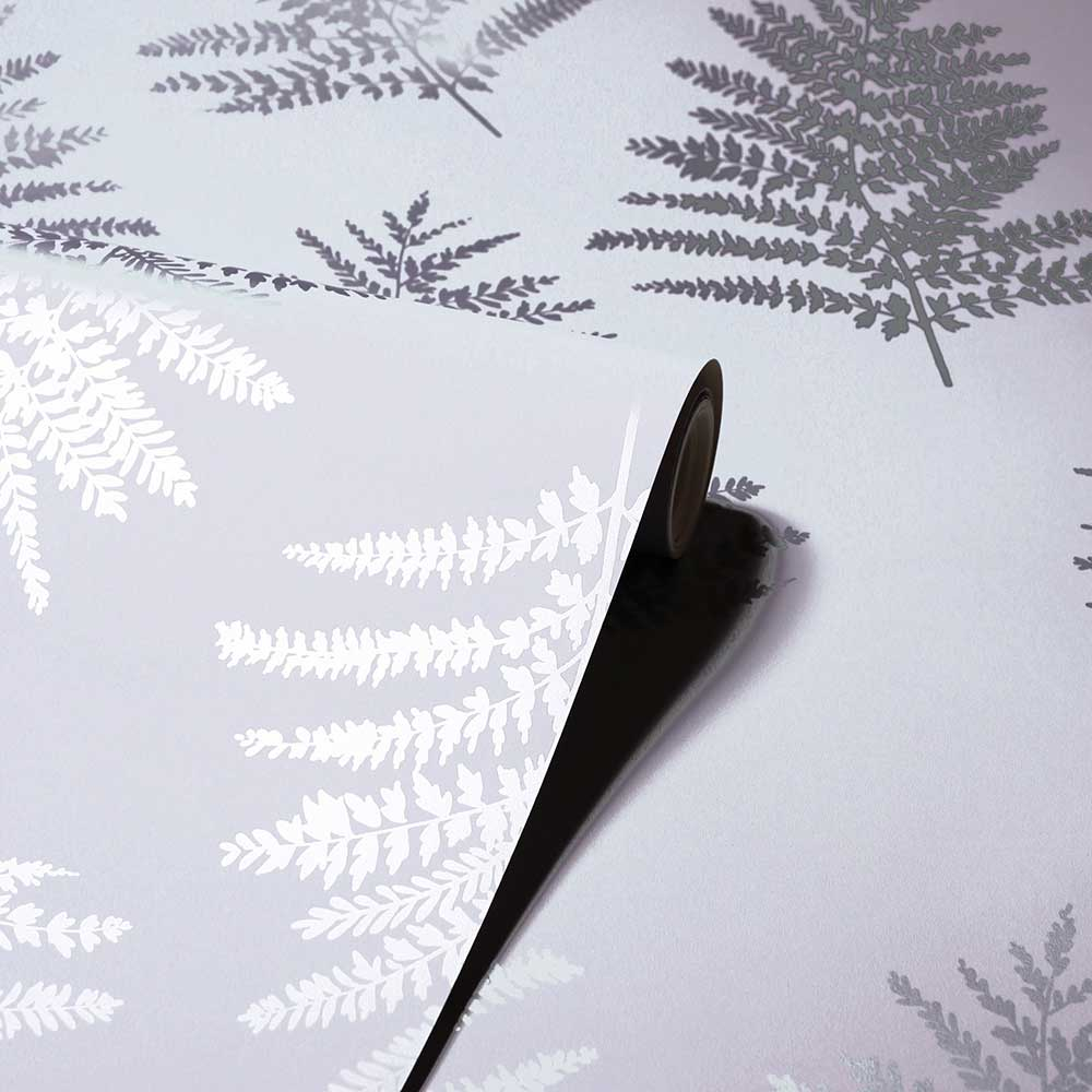 Arthouse Metallic Fern Silver Wallpaper - Product code: 687002