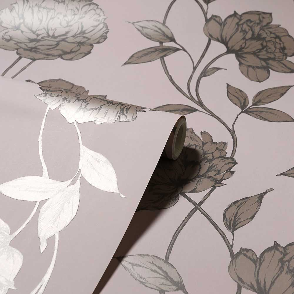 Pretty Floral Wallpaper - Blush - by Arthouse