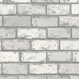 Arthouse Metallic Brick White / Silver Wallpaper - Product code: 692201