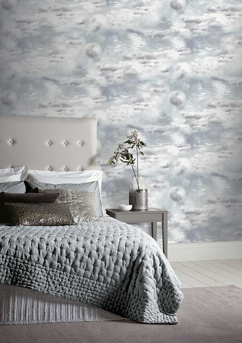 Watery Skies Wallpaper - Grey - by Arthouse