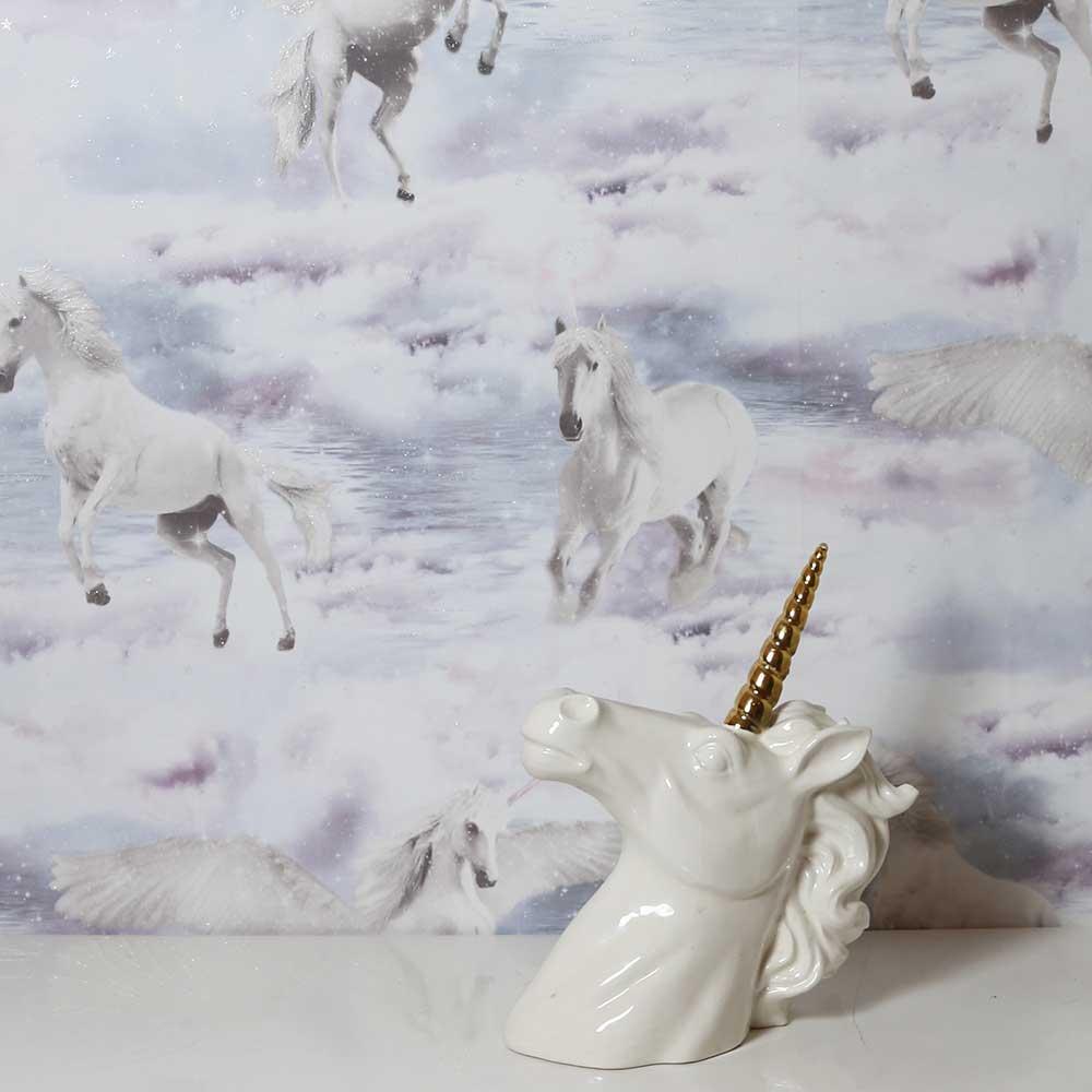 Arthouse Unicorn Kingdom Grey Wallpaper - Product code: 692600