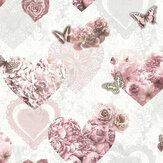 Arthouse Floral Hearts Pink Wallpaper - Product code: 692802