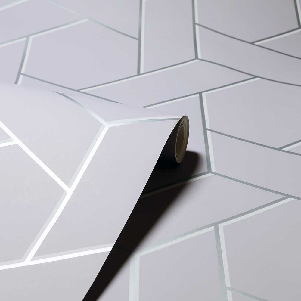 Arthouse Parquet Geo Silver Wallpaper - Product code: 695501