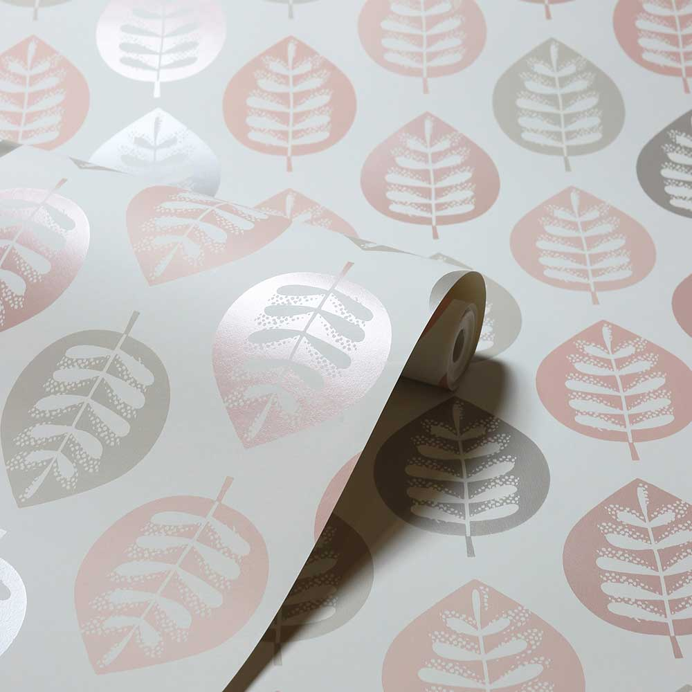Amira Leaf Wallpaper - Blush - by Arthouse