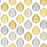 Arthouse Amira Leaf Ochre Wallpaper - Product code: 907402