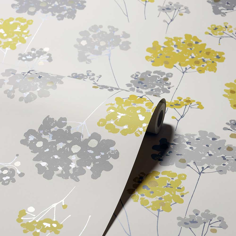 Anya Floral Wallpaper - Ochre - by Arthouse