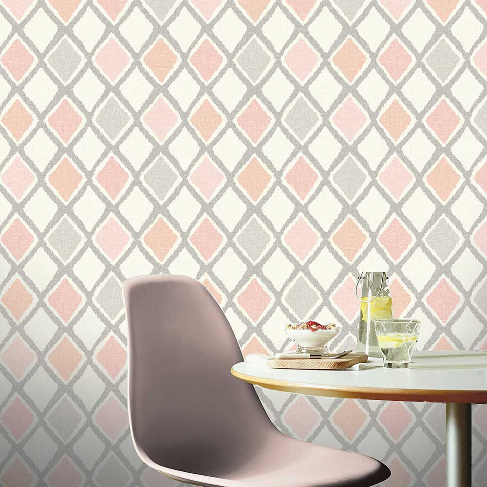 Ayat Wallpaper - Blush - by Arthouse
