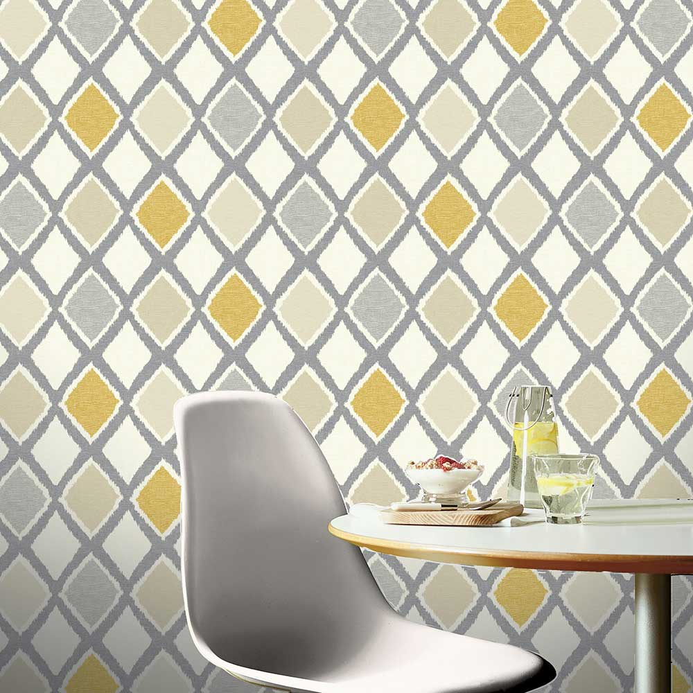 Ayat Wallpaper - Ochre - by Arthouse